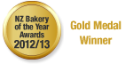 NZ Bakery of the Year Awards - Gold Meda Winner